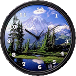 Mt. Rainier National Park Clock