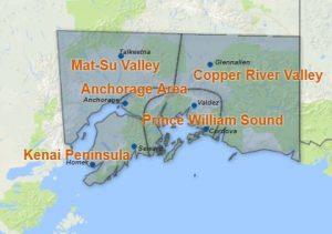 Southcentral Alaska Map